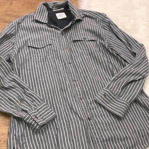 Tommy Bahamas large striped long sleeve shirt